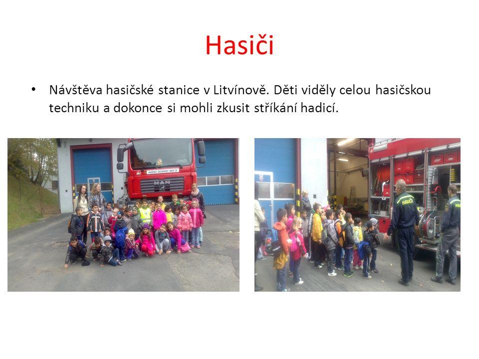 Hasiči Návštěva hasičské stanice v Litvínově.