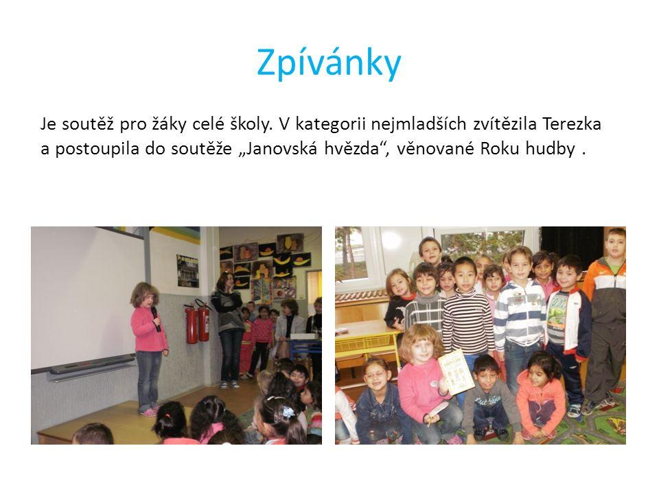 Zpívánky Je soutěž pro žáky celé školy.