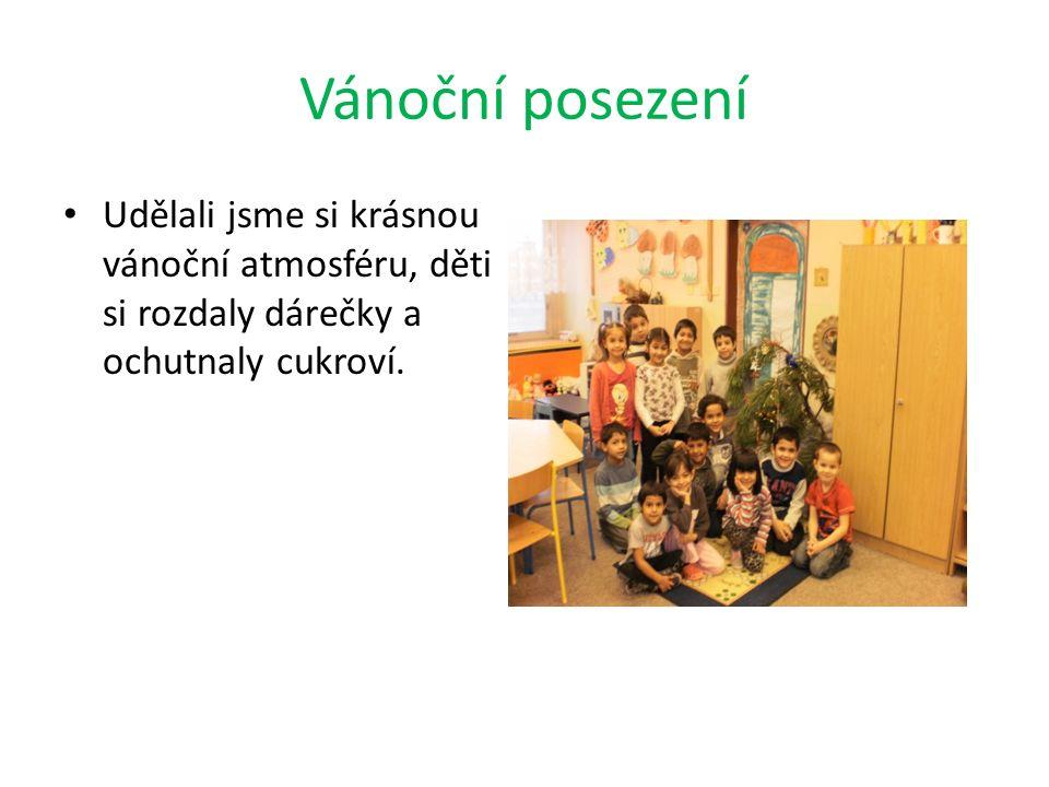 Vánoční posezení Udělali jsme si krásnou vánoční atmosféru, děti si rozdaly dárečky a ochutnaly cukroví.