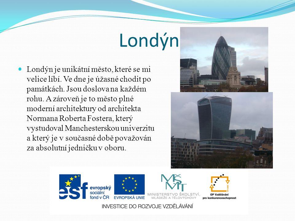 Londýn Londýn je unikátní město, které se mi velice líbí.