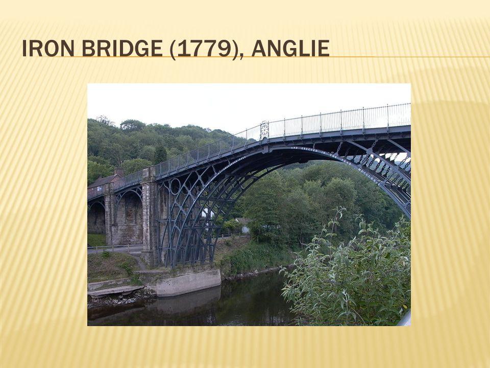  V roce 1808 si americký inženýr J.Finley patentoval systém pro řetězové zavěšené mosty  První moderní na lanech zavěšený most byl postaven ve Philadelphii v r.