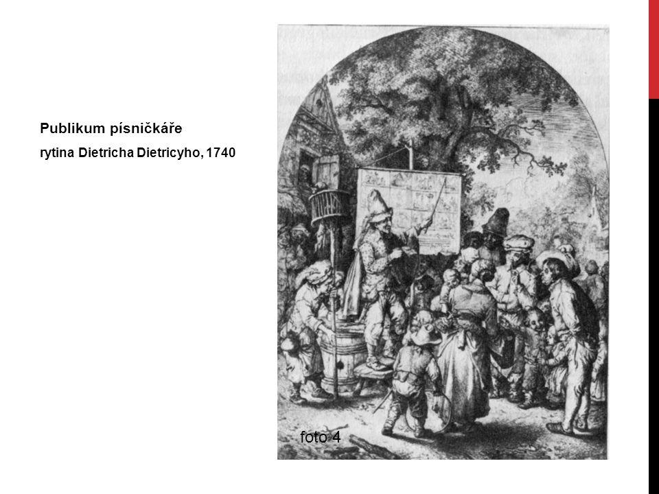 Publikum písničkáře rytina Dietricha Dietricyho, 1740 foto 4
