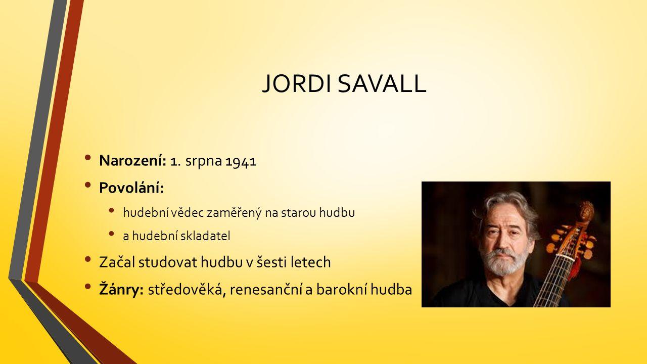JORDI SAVALL Narození: 1.