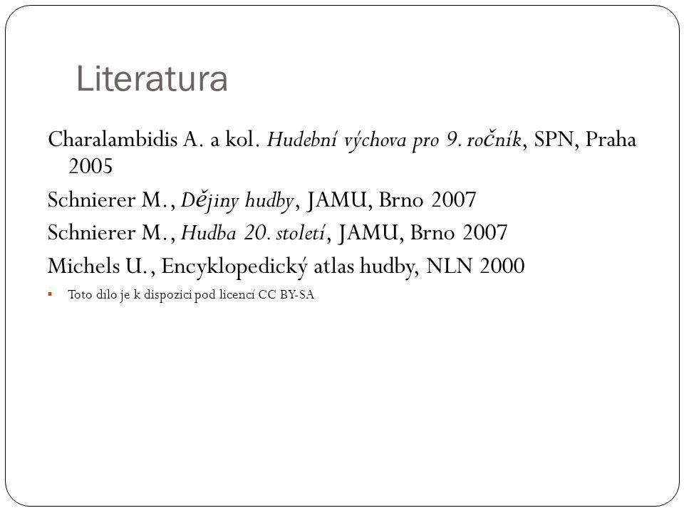 Literatura Charalambidis A.a kol. Hudební výchova pro 9.