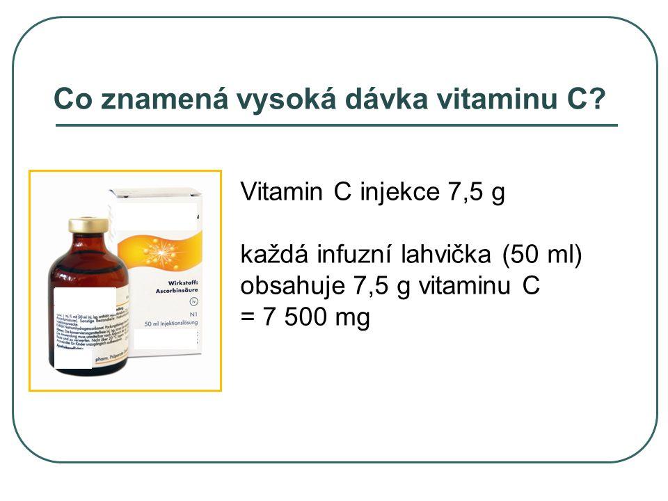 Co znamená vysoká dávka vitaminu C.