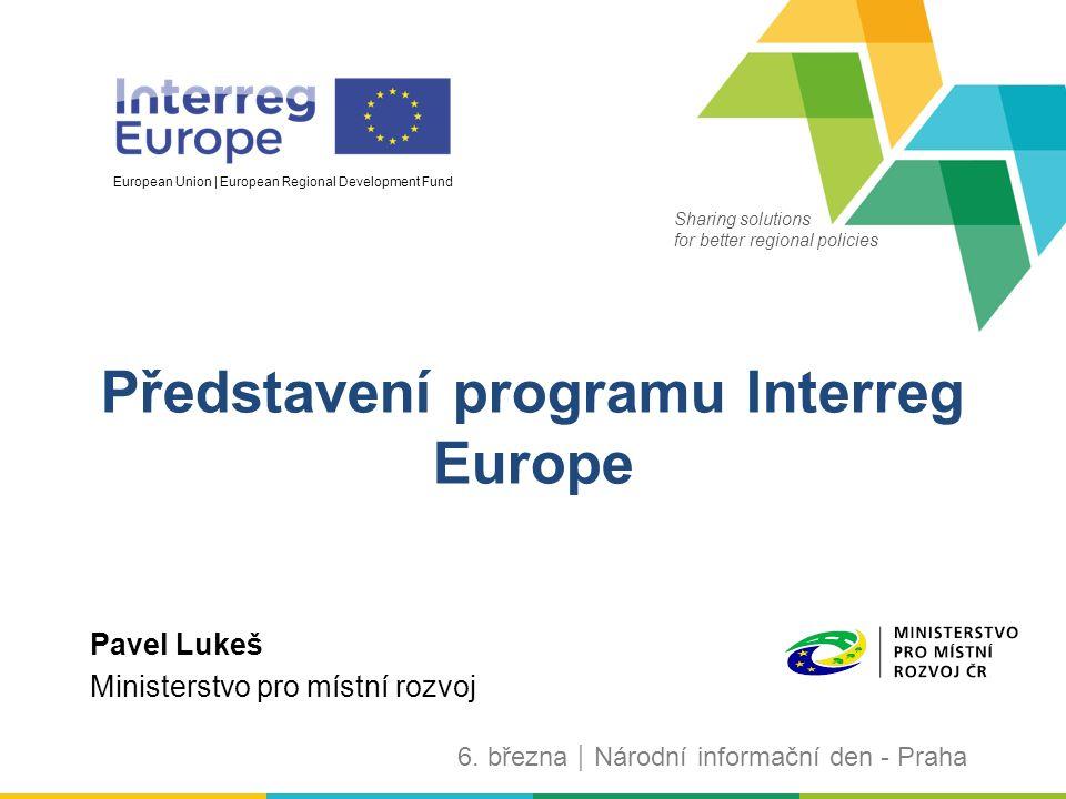 32 Kde najdete další informace Stránka programu  www.interregeurope.eu www.interregeurope.eu Programový manuál – NUTNÁ ZNALOST  www.interregeurope.eu/help/programme-manual/ www.interregeurope.eu/help/programme-manual/ Interreg Europe community  www.interregeurope.eu/account/dashboard/ www.interregeurope.eu/account/dashboard/ Stránky v češtině  http://www.dotaceeu.cz/cs/Fondy-EU/2014-2020/Operacni- programy/OP-INTERREG-EUROPE http://www.dotaceeu.cz/cs/Fondy-EU/2014-2020/Operacni- programy/OP-INTERREG-EUROPE
