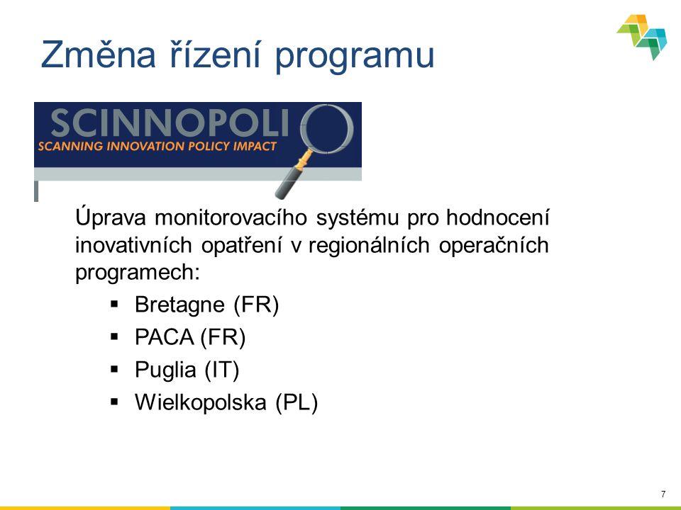 18 Cíl ….s cílem zlepšit efektivitu implementace politik dotčených regionů (zvláště implementaci programů Investice pro růst a zaměstnanost) Partneři z různých států spolupracují na sdílení zkušeností v oblastech politik regionálního rozvoje (v rámci tematických oblastí programu)… Projekty Definice