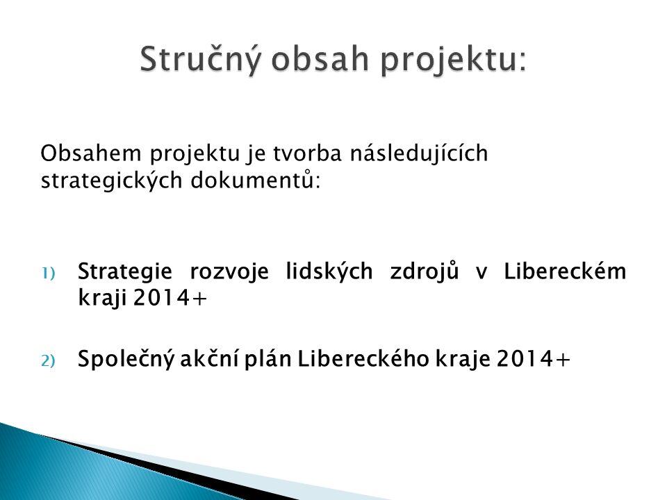 Obsahem projektu je tvorba následujících strategických dokumentů: 1) Strategie rozvoje lidských zdrojů v Libereckém kraji 2014+ 2) Společný akční plán Libereckého kraje 2014+