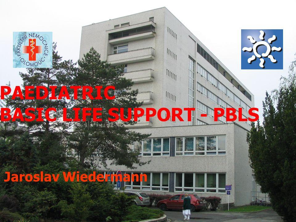 European Resuscitation Council Guidelines: Paediatric life support ( PLS ) V letech: 1994 - 1998 - 2000