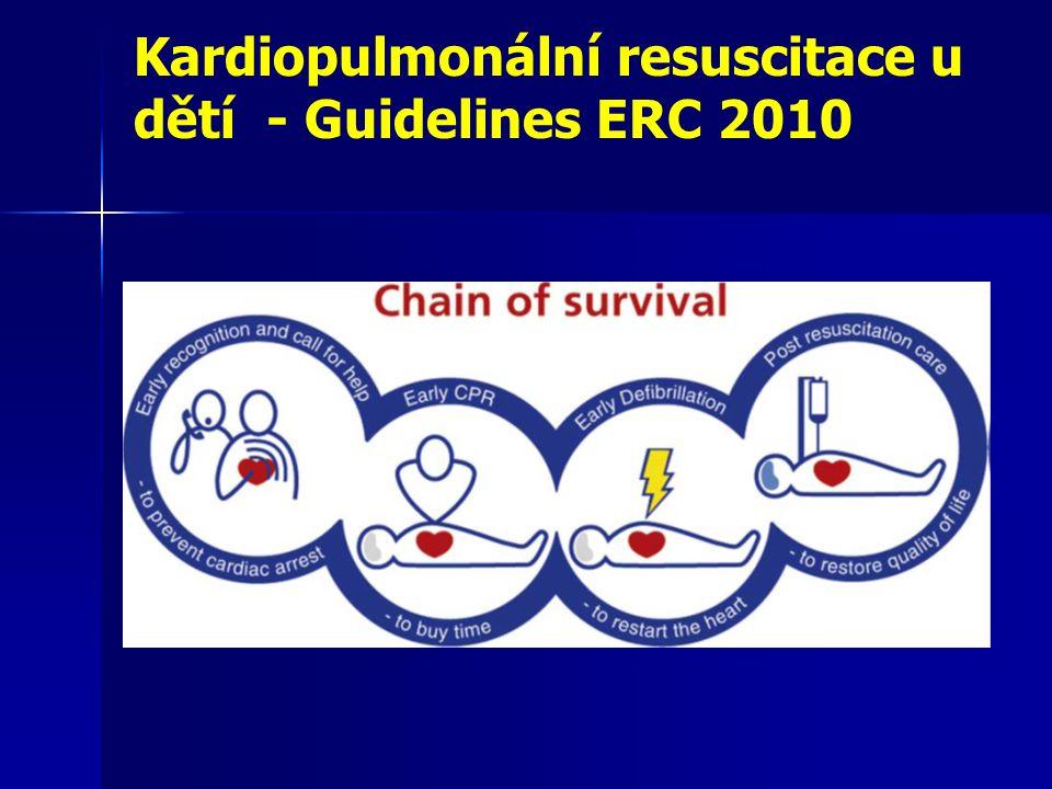 Kardiopulmonální resuscitace u dětí - Guidelines ERC 2010