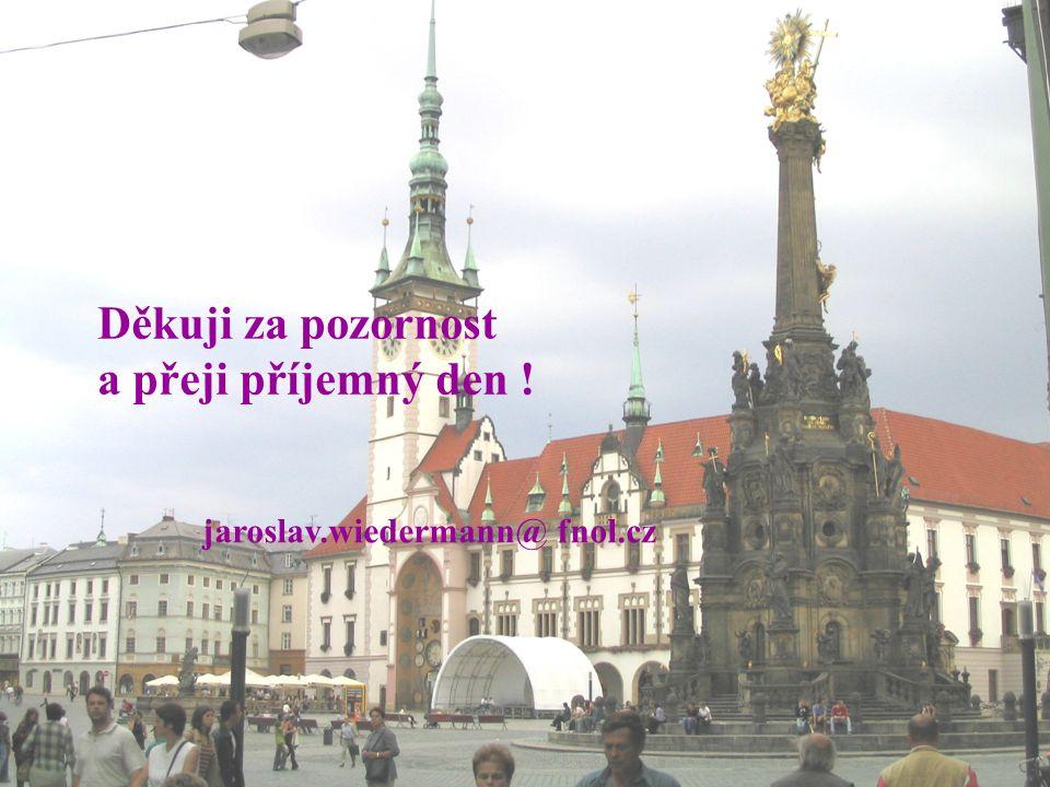 Děkuji za pozornost a přeji příjemný den ! jaroslav.wiedermann@ fnol.cz