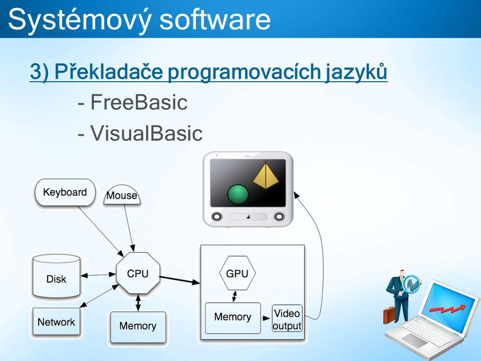 Systémový software 3) Překladače programovacích jazyků - FreeBasic - VisualBasic