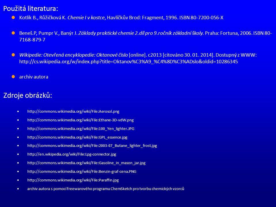 Zdroje obrázků: http://commons.wikimedia.org/wiki/File:Aerosol.png http://commons.wikimedia.org/wiki/File:Ethane-3D-vdW.png http://commons.wikimedia.o