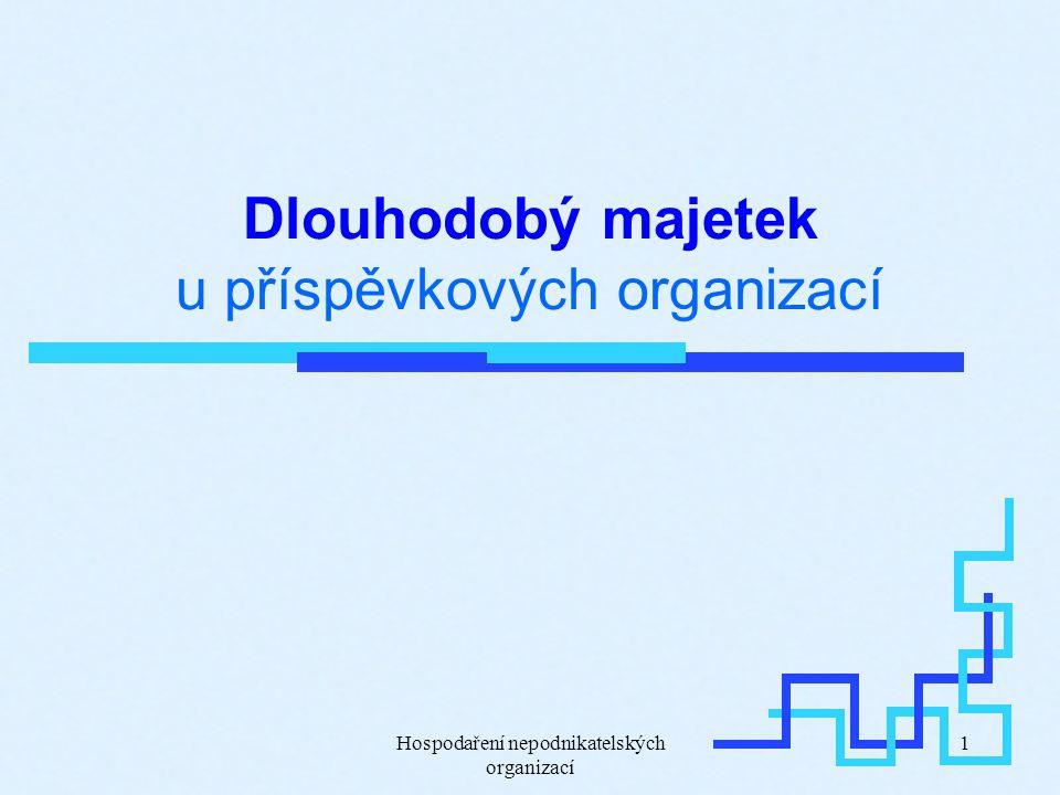 Hospodaření nepodnikatelských organizací 1 Dlouhodobý majetek u příspěvkových organizací
