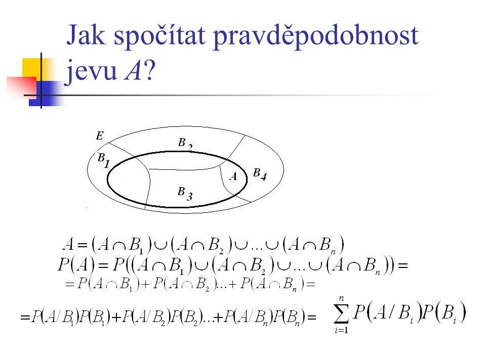 Jak spočítat pravděpodobnost jevu A
