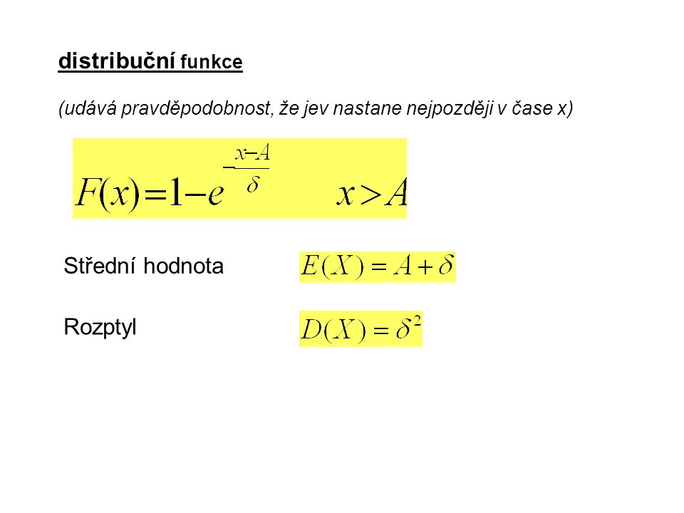 Další rozdělení důležitá v matematické statistice Rozdělení chí-kvadrát Rozdělení t – Studentovo Rozdělení F - Fischerovo
