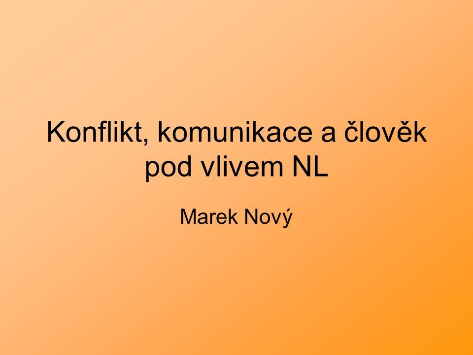 Konflikt, komunikace a člověk pod vlivem NL Marek Nový