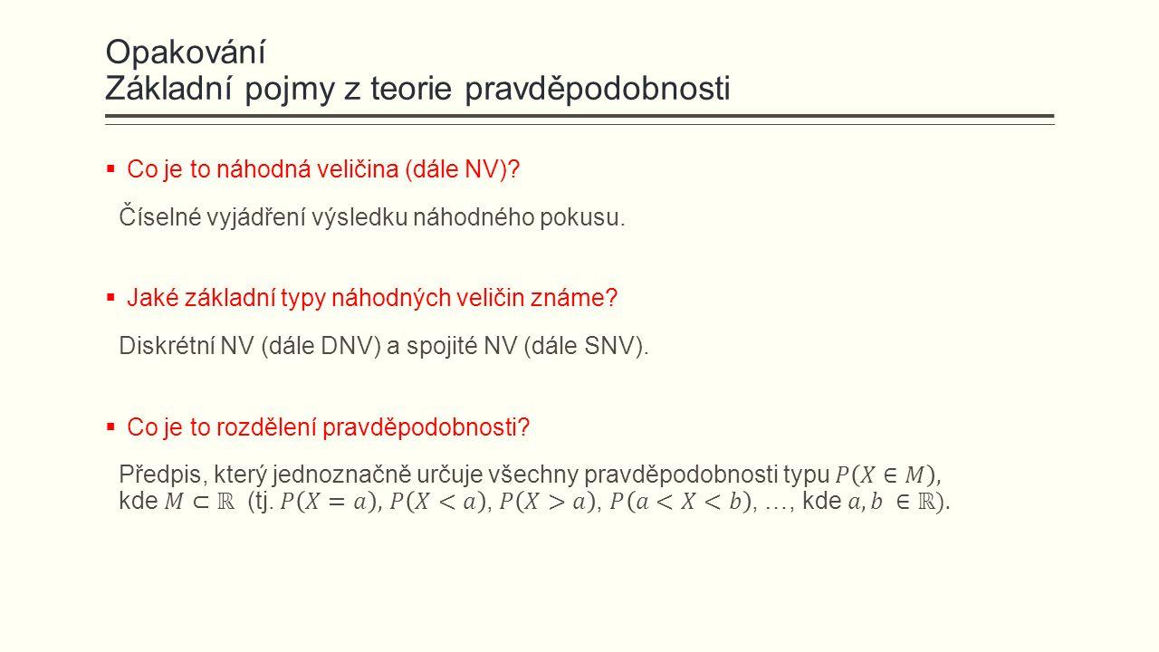 Poissonovo rozdělení  Definujme si náhodný pokus jako Poissonův proces (nezávislé události probíhající v čase t, s rychlostí výskytu λ; popř.