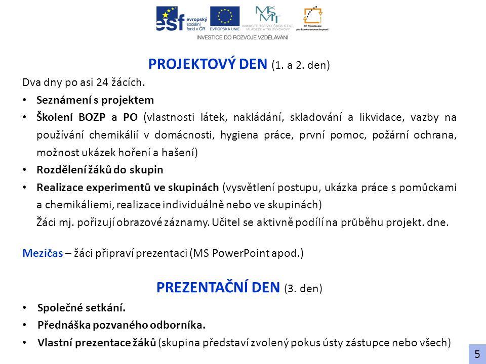 PROGRAM SEMINÁŘE CHEMIE (1.– 2. 9. 2012, Pardubice) Sobota 1.