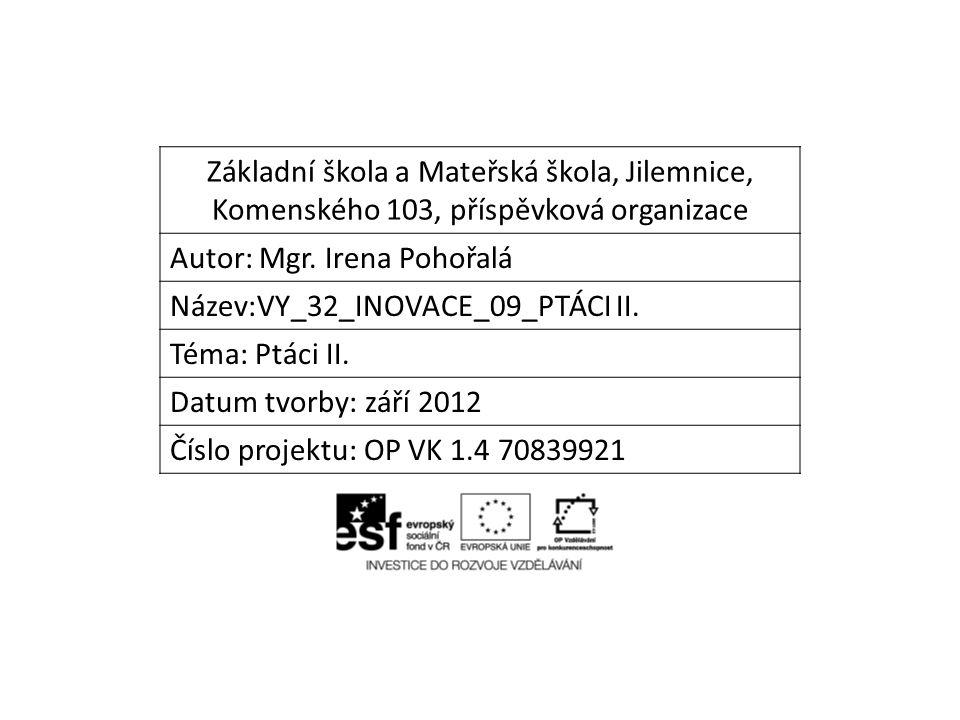 Základní škola a Mateřská škola, Jilemnice, Komenského 103, příspěvková organizace Autor: Mgr.