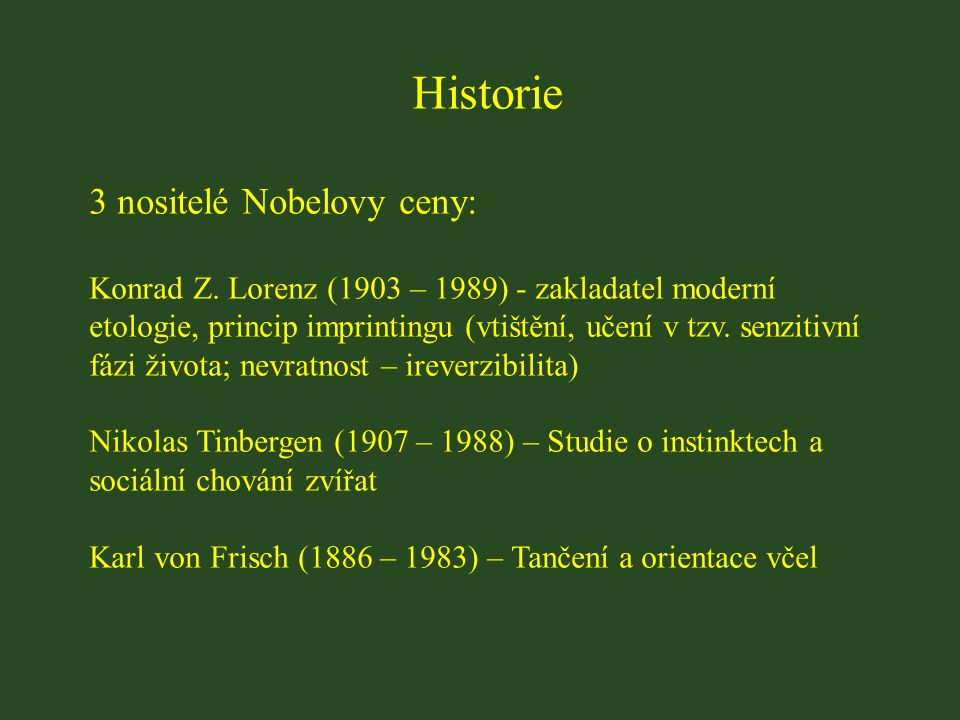 Historie 3 nositelé Nobelovy ceny: Konrad Z.