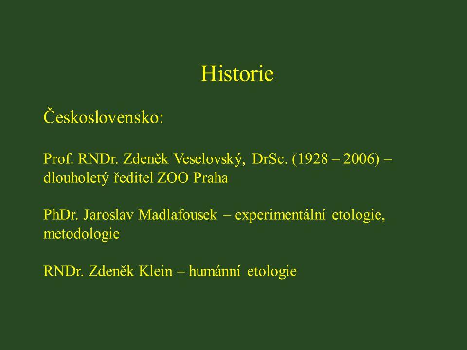 Historie Československo: Prof. RNDr. Zdeněk Veselovský, DrSc.