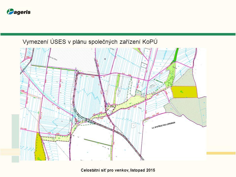 Celostátní síť pro venkov, listopad 2015 Vymezení ÚSES v plánu společných zařízení KoPÚ