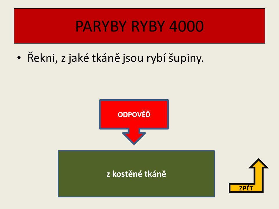 """PARYBY RYBY 3000 Vysvětli pojem """"plůdek . ZPĚT ODPOVĚĎ Plůdek je malá rybka."""