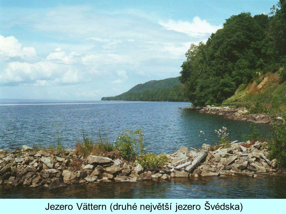 Jezero Vättern (druhé největší jezero Švédska)