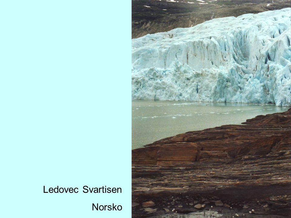 Ledovec Svartisen Norsko