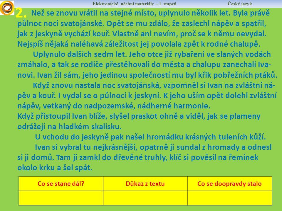Elektronické učební materiály – I. stupeň Český jazyk 2.