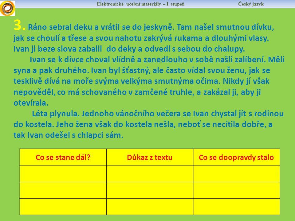 Elektronické učební materiály – I.stupeň Český jazyk 4.