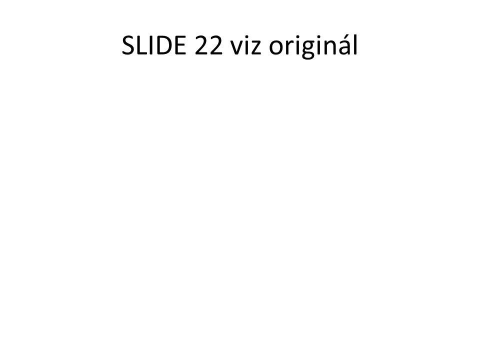 SLIDE 22 viz originál