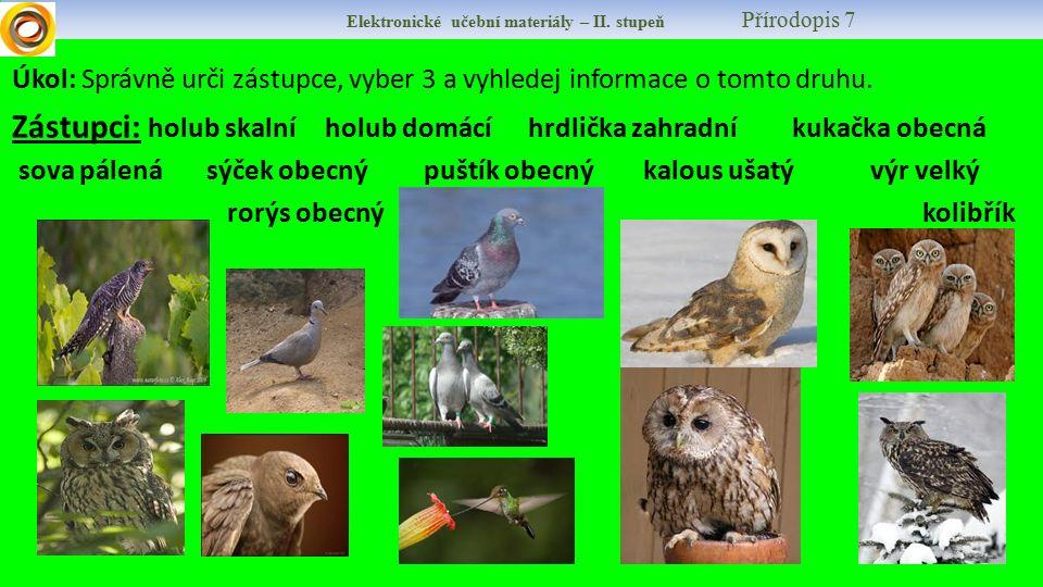 Elektronické učební materiály – II.stupeň Přírodopis 7 8.
