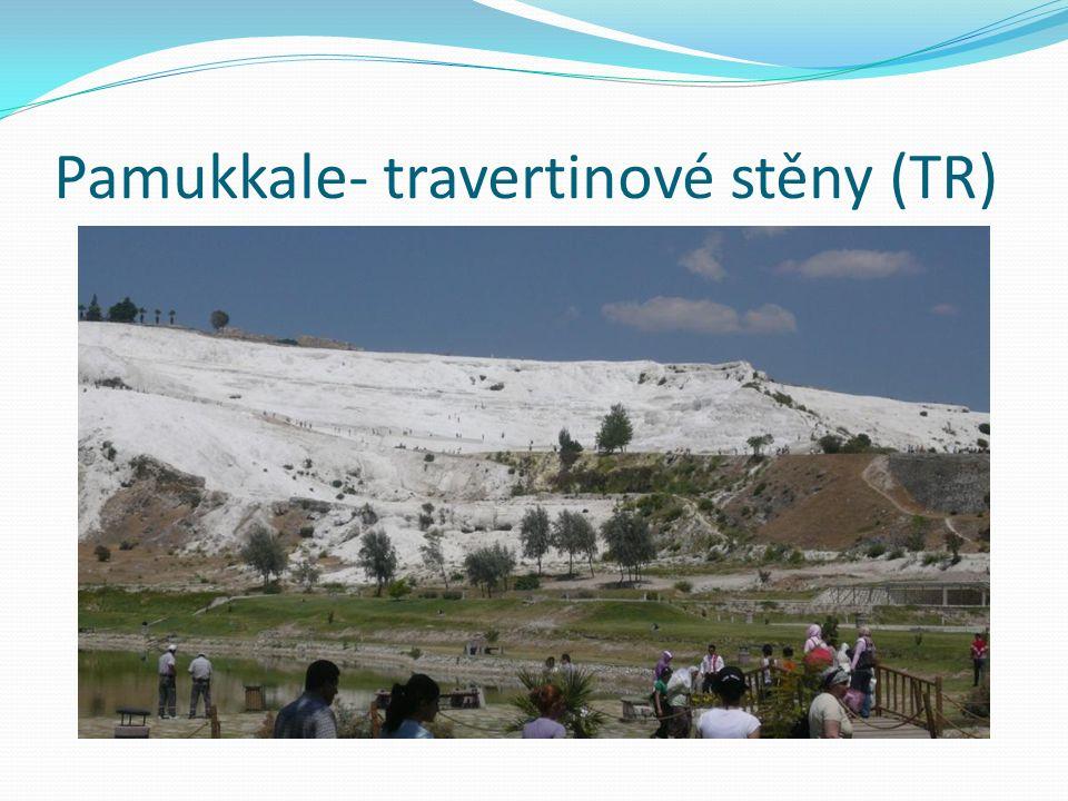 Pamukkale- travertinové stěny (TR)