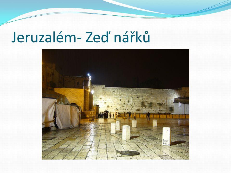 Jeruzalém- Zeď nářků