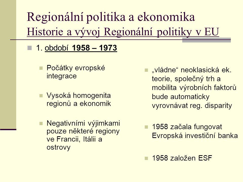 Regionální politika a ekonomika 2.