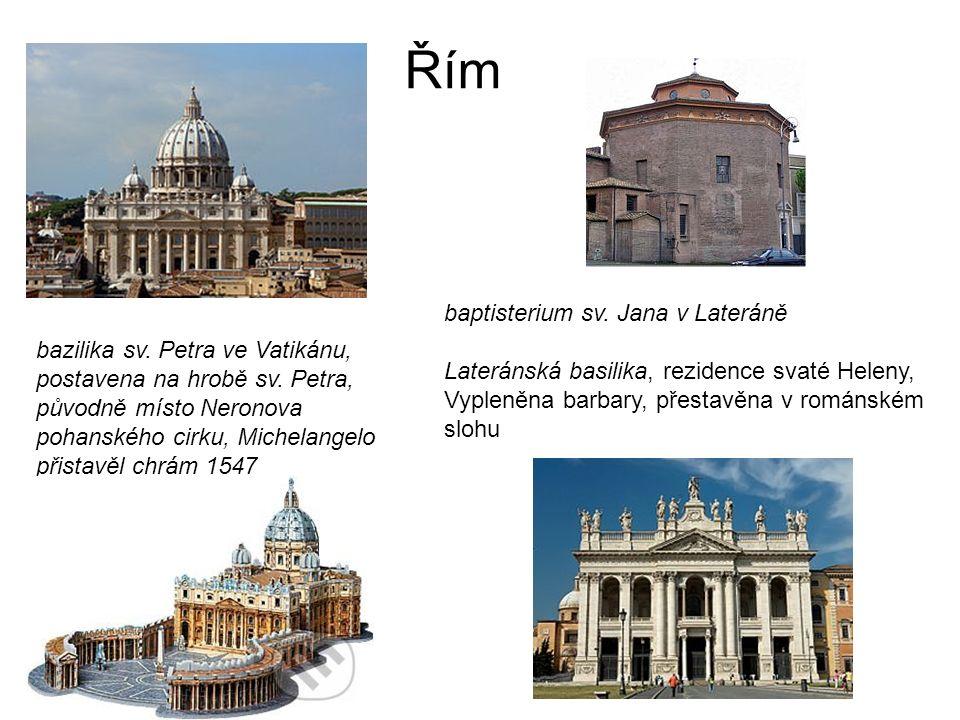 Řím bazilika sv. Petra ve Vatikánu, postavena na hrobě sv.