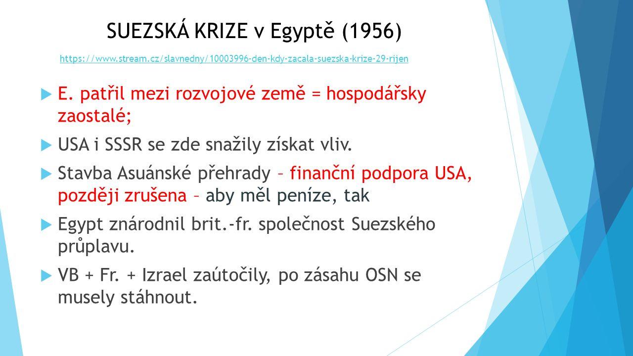 EVROPA PO II. SVĚTOVÉ VÁLCE 3. fáze studené války druhé období zadržování komunismu (60. léta)