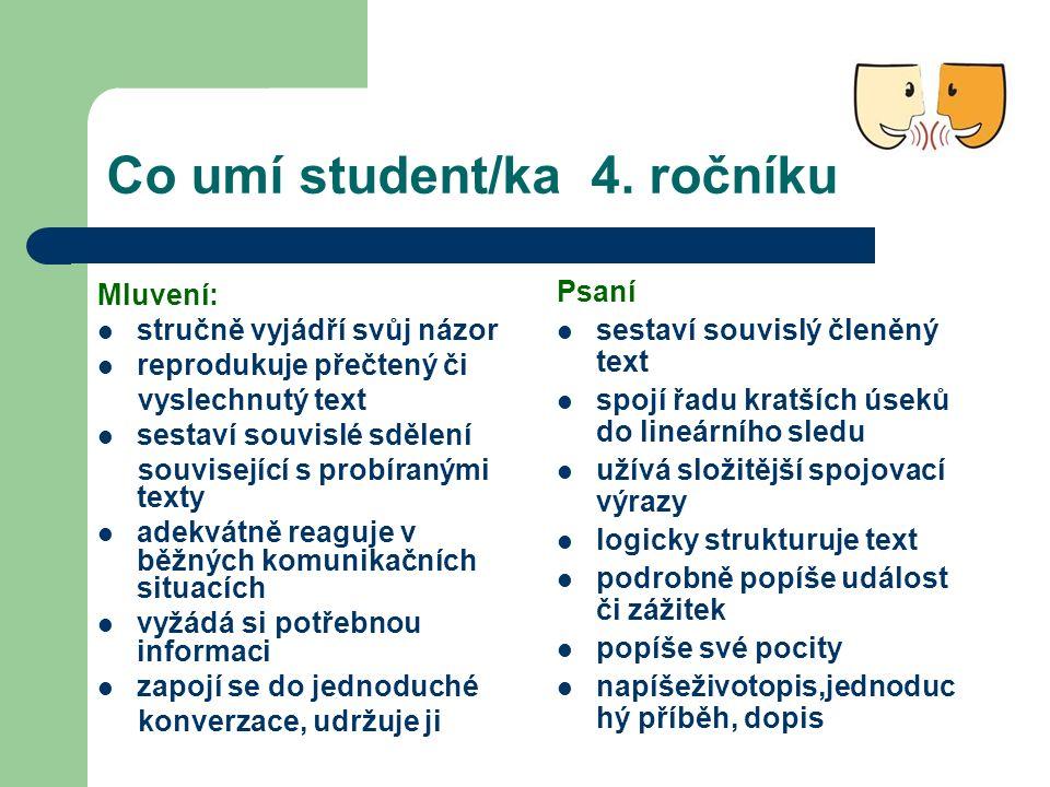 Co umí student/ka 4.