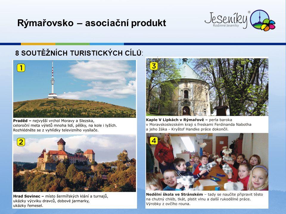 7 Rýmařovsko – asociační produkt 8 SOUTĚŽNÍCH TURISTICKÝCH CÍLŮ: