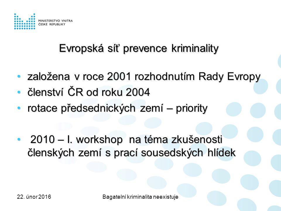 založena v roce 2001 rozhodnutím Rady Evropyzaložena v roce 2001 rozhodnutím Rady Evropy členství ČR od roku 2004členství ČR od roku 2004 rotace předsednických zemí – priorityrotace předsednických zemí – priority 2010 – I.