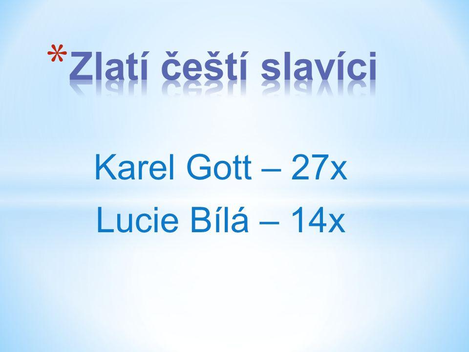 Karel Gott – 27x Lucie Bílá – 14x