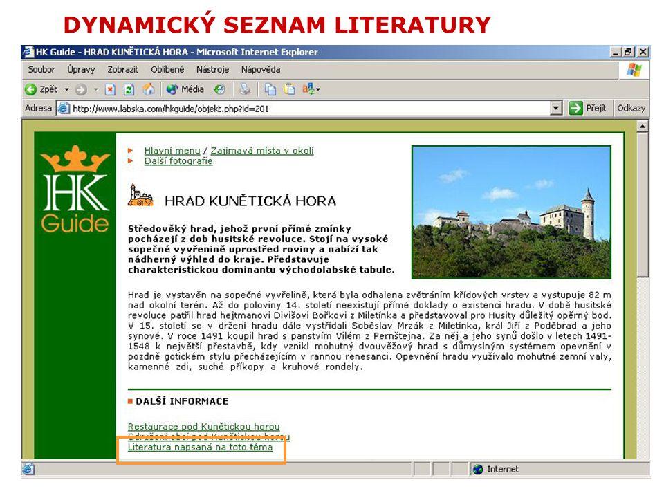 DYNAMICKÝ SEZNAM LITERATURY