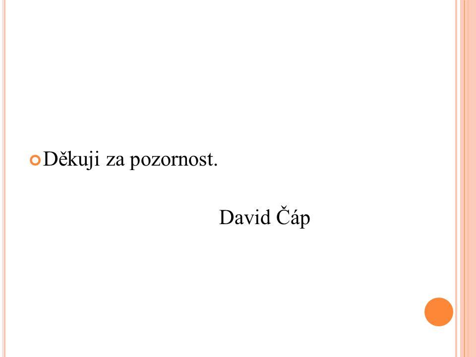 Děkuji za pozornost. David Čáp
