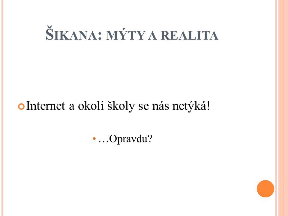 Š IKANA : MÝTY A REALITA Internet a okolí školy se nás netýká! …Opravdu