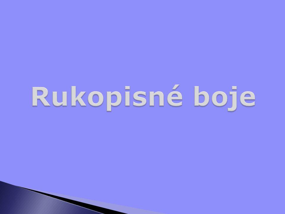  Spory o pravost rukopisů  Začaly krátce po objevení rukopisů  Původně jen o Rukopis zelenohorský  Většina lidí rukopisy původně přijala jako pravé  Spory se vedly i v cizině  Vroce 1886 se do nich významně zapojil i Tomáš Garrigue Masaryk, který považoval rukopisy za nepravé  Dnes jsou rukopisy považovány za falešné, ale stále se najdou zastánci jejich pravosti