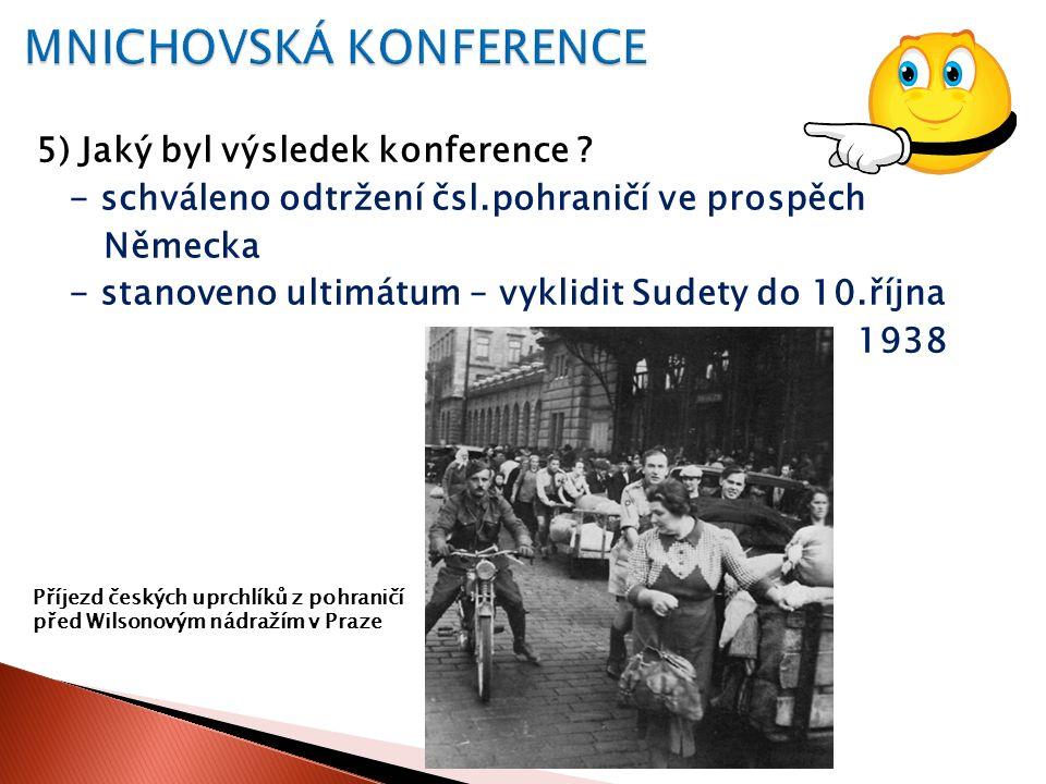 Samostatná skupinová práce žáků Za pomoci učebnic, literatury a internetu zjistěte, jaké důsledky měl podpis pod Mnichovskou dohodou pro ČSR.