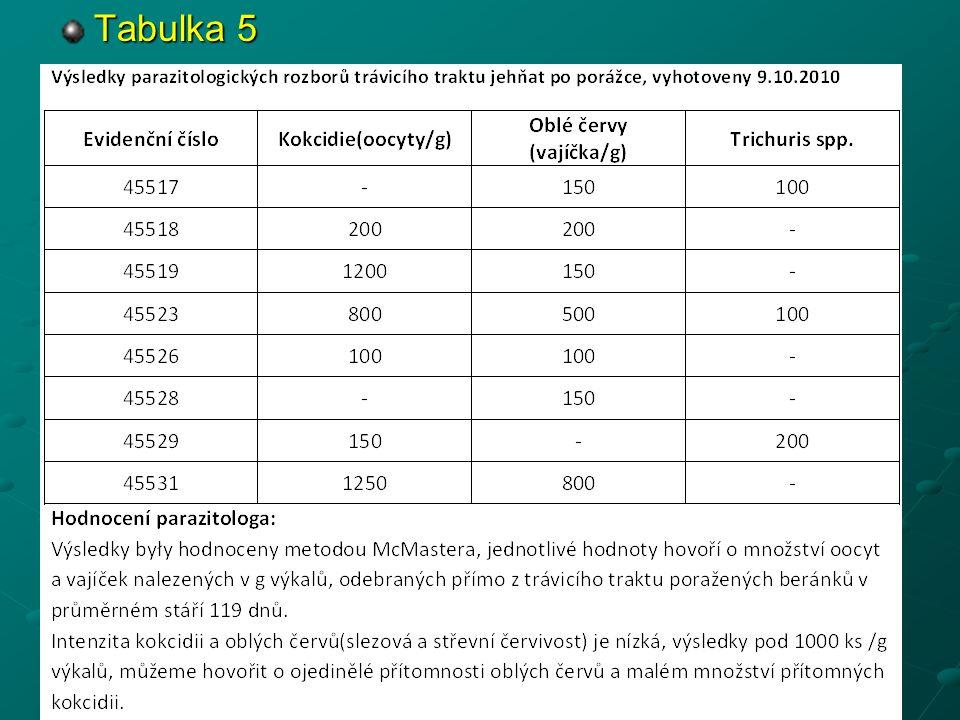 Tabulka 5
