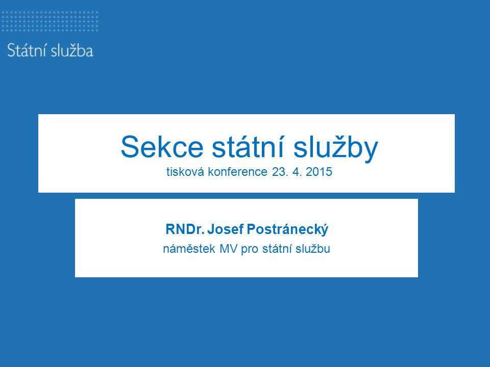 Sekce státní služby tisková konference 23. 4. 2015 RNDr.